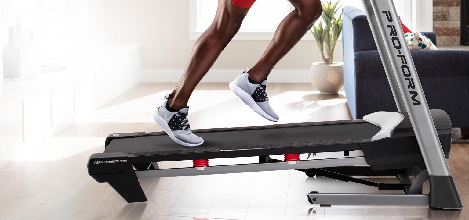 incline on the proform treadmill