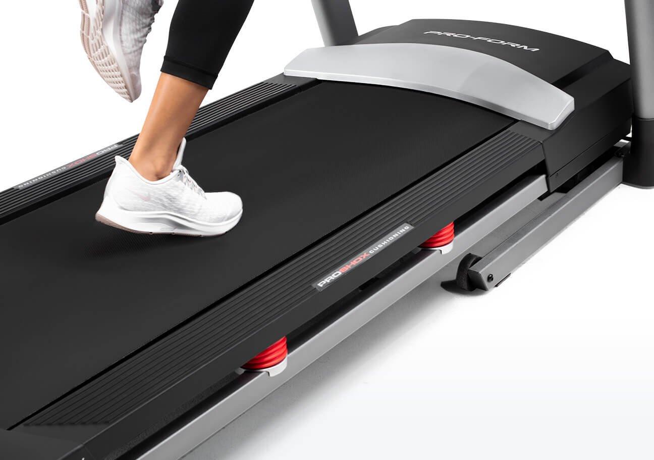ProForm treadmills have large treadbelts