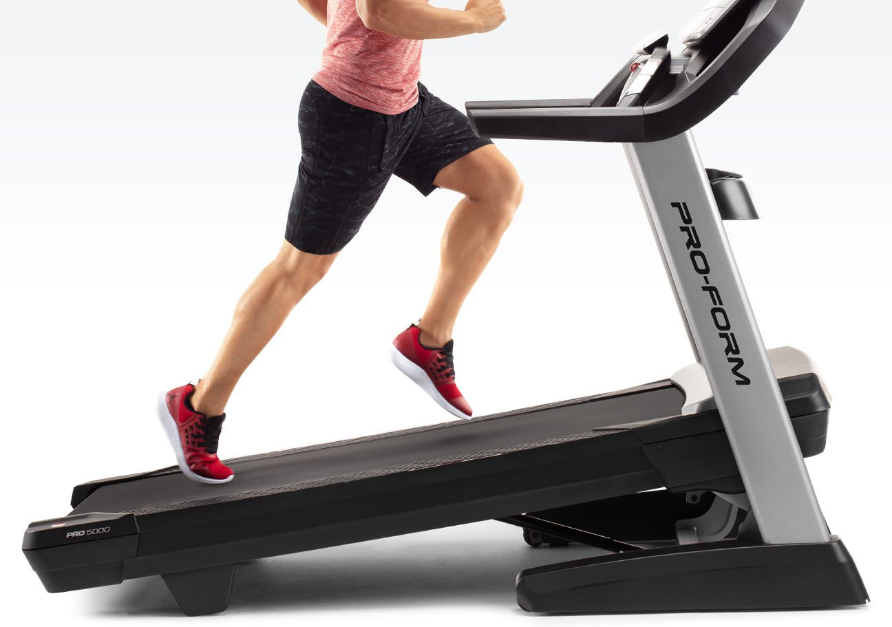 showing of the incline of the ProForm Treadmill