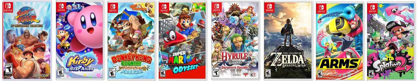some games for the nintendo switch