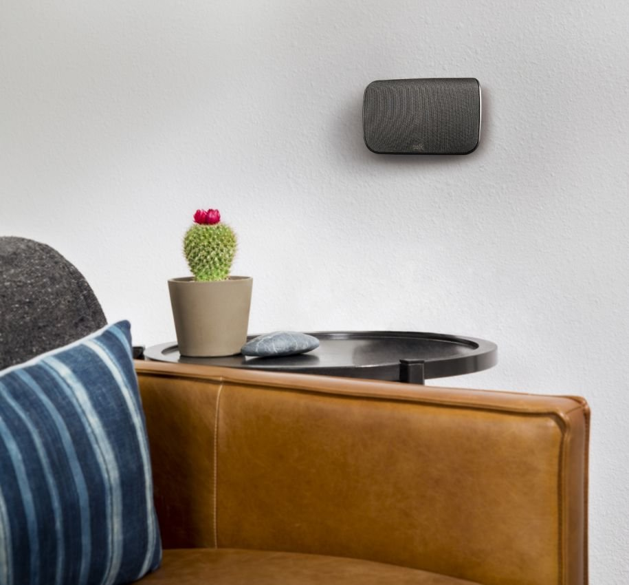 polk speaker on wall