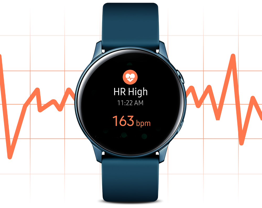 samsung watch active heart rate monitor