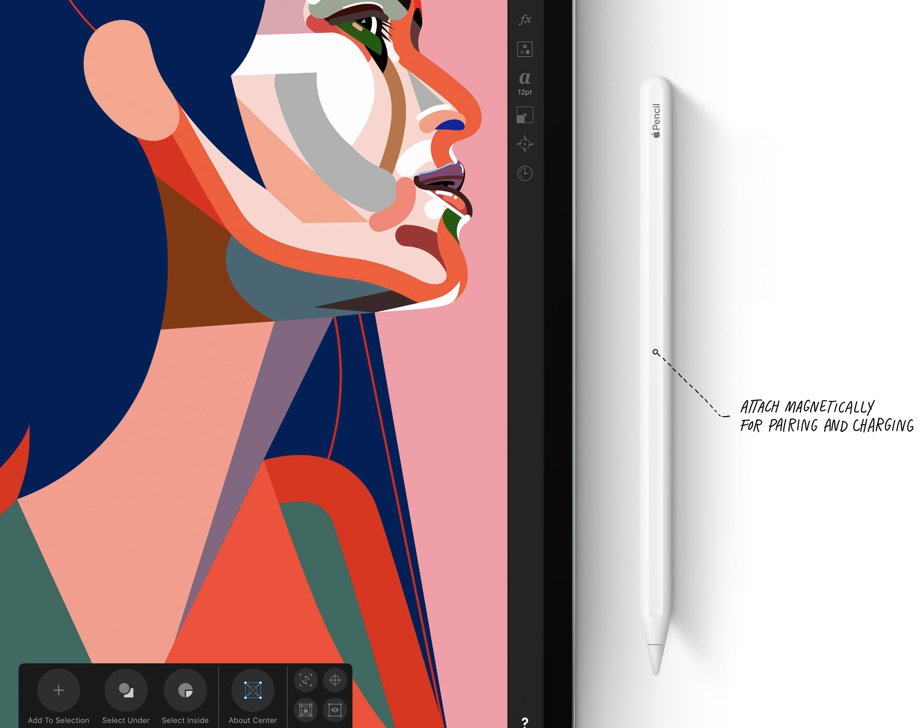 snap apple pencil onto ipad