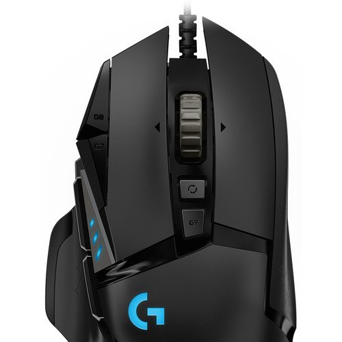 top of the logitech mouse