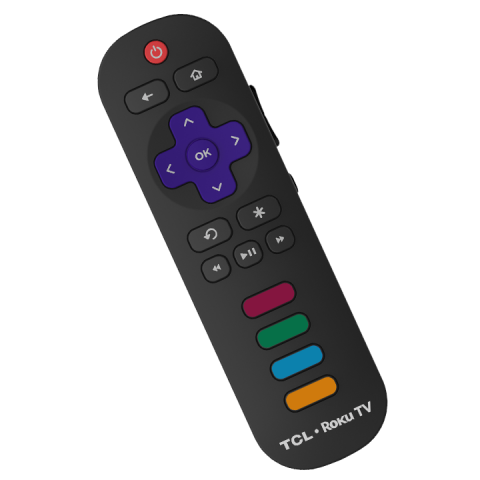 remote for roku on tcl tv