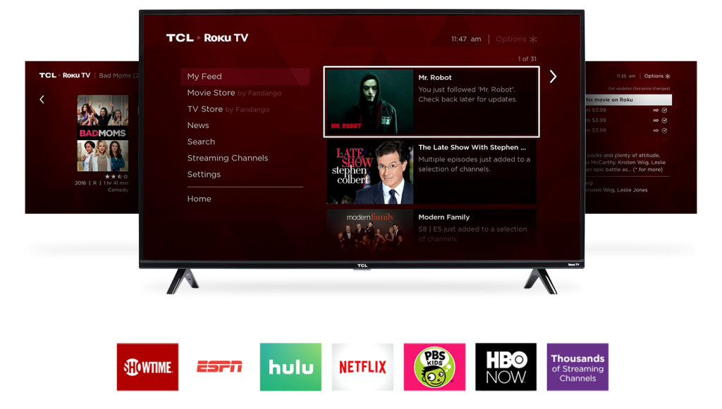 TCL TV menu