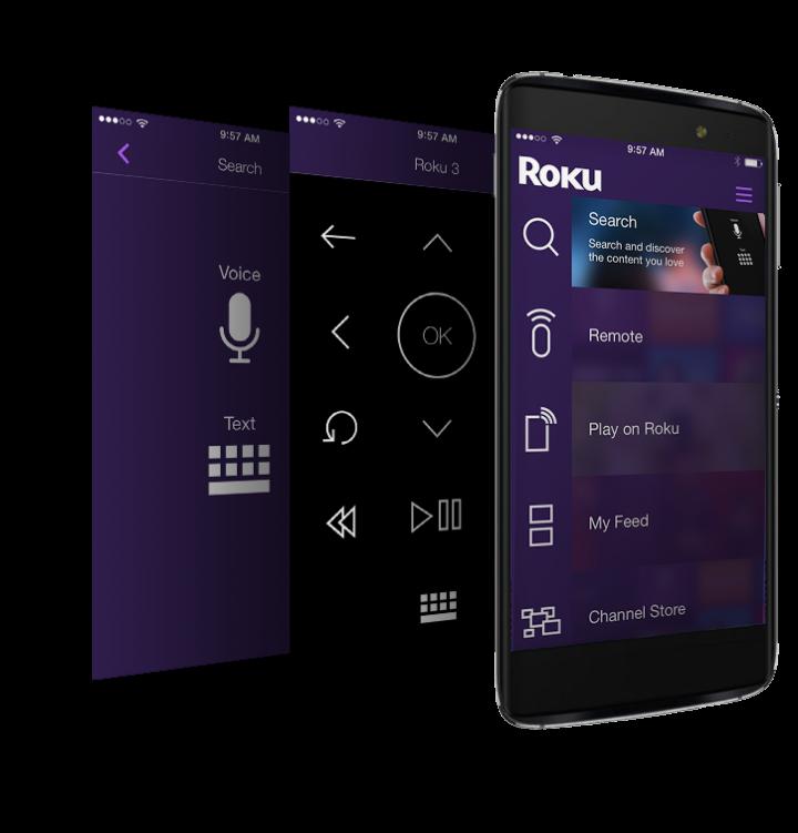 smartphone roku mobile app