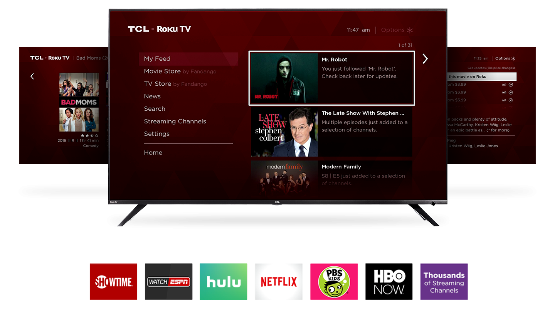 Roku smart tv platform