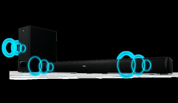 tcl speaker displaying audio
