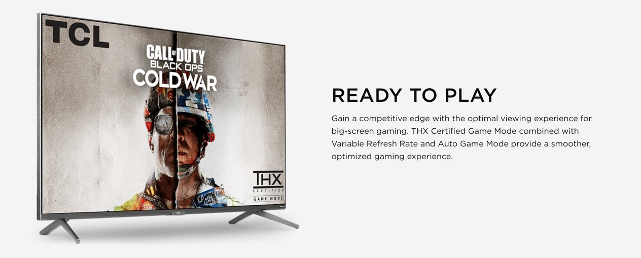 TCL Series 6 Video Game Experience