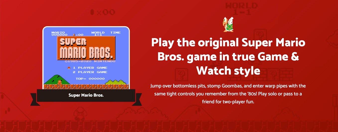 Nintendo Game and Watch Original Super Mario Bros