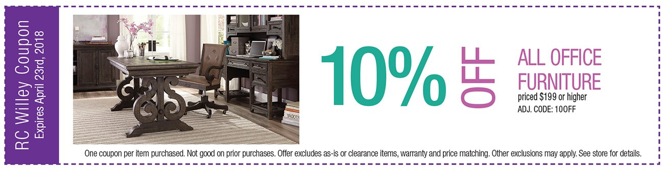 10% off all office furniture