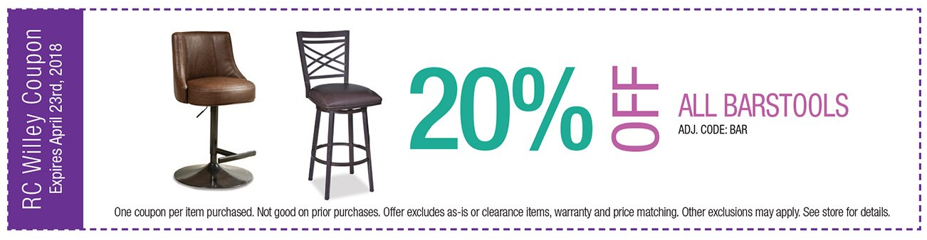 20% off all barstools