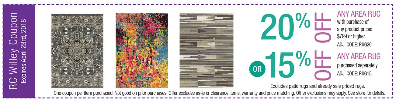 20% or 15% off rugs
