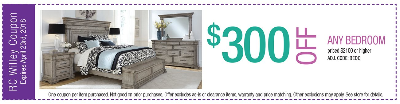 $300 off any Bedroom $2100 or higher