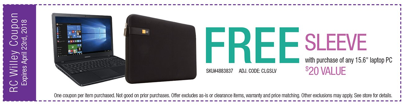 Free Sleeve with purchase of any 15.6