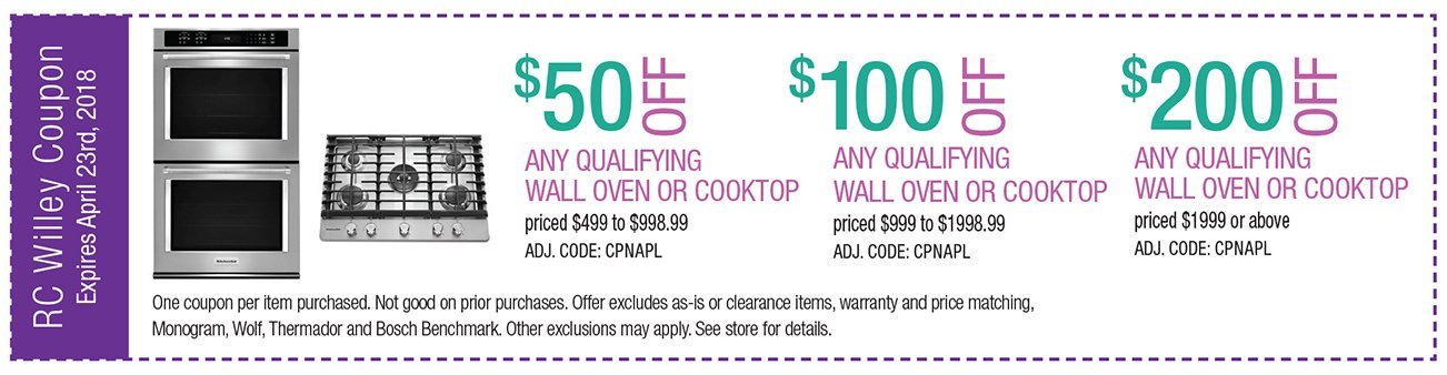 up to $200 off any qualifying wall oven or cooktop $1999 and up