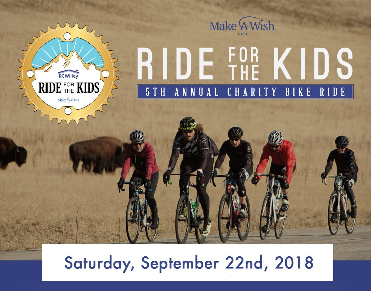 RC Willey Ride for the Kids 5th Annual Charity Bike Ride. Saturday, September 22nd, 2018