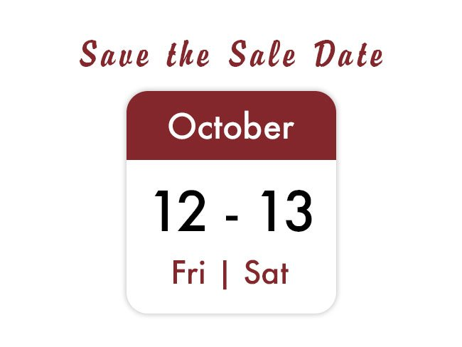 Save the Date October 12 - 13