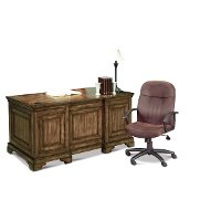Chestnut Brown Executive Desk - Centennial
