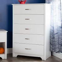 9007035 White 5-Drawer Chest - Fusion