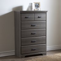 9041035 Casual Contemporary Gray Maple 5-Drawer Chest - Versa