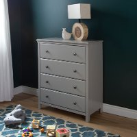 9020034 Soft Gray 4-Drawer Chest - Cotton Candy