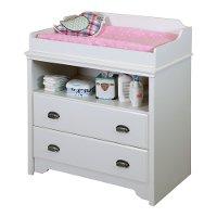 9023331 White Changing Table - Fundy Tide