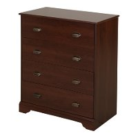 9022034 Cherry 4-Drawer Chest - Fundy Tide