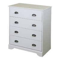 9023034 White 4-Drawer Chest - Fundy Tide