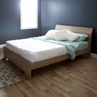 9063282 Rustic Oak Queen Bed (60 Inch) - Fusion