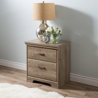 9066060 Weathered Oak 2-Drawer Nightstand - Versa