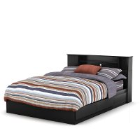 10040 Black Queen Mates Bed with Headboard - Vito