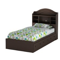10048 Chocolate Twin Mates Bed - Summer Breeze