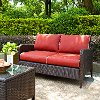 CO7117-BR Kiawah Sangria Wicker Loveseat