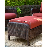 CO7119-BR Sangria Wicker Ottoman - Kiawah