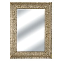 Embossed Metal Framed Mirror