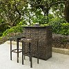 KO70009BR Dark Brown Wicker Bar Set - Palm Harbor