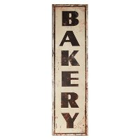 Vertical Metal Bakery Sign