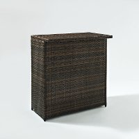 CO7204-BR Dark Brown Wicker Bar - Palm Harbor