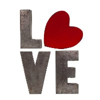 Metal Love Word Wall Decor with Heart