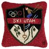 Ski Utah Patch 18 Inch Wool Throw Pillow