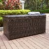 CO7300-BR Palm Harbor Dark Brown Wicker Storage Bin