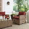 KO70023WB-SG Sangria and Brown Wicker Patio Arm Chair - Bradenton