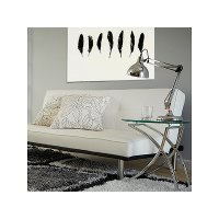 Clear Glass and Chrome Side Table - Talisa