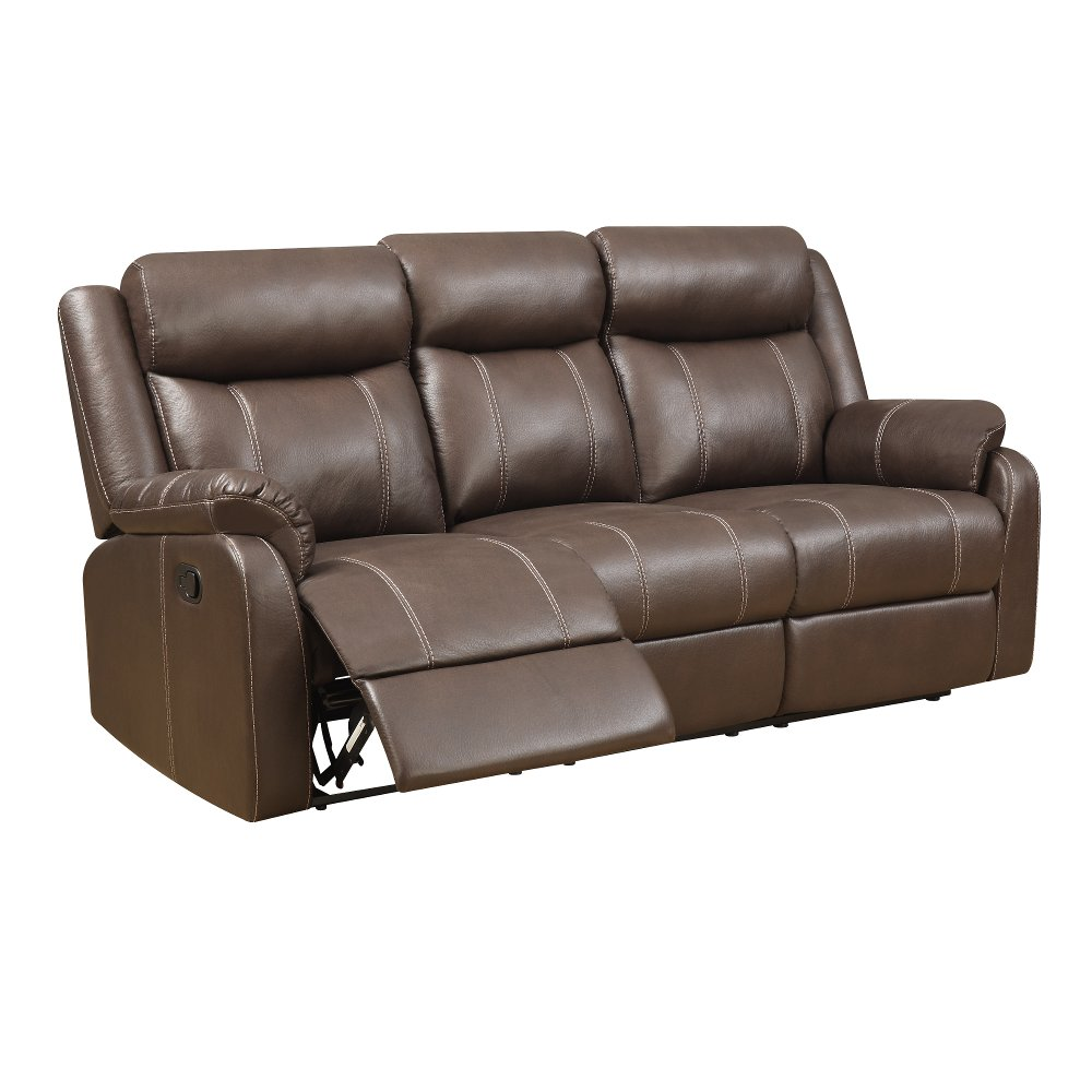 Valor Chocolate Brown Dual Reclining Sofa   Domino   RC Willey Furniture  Store