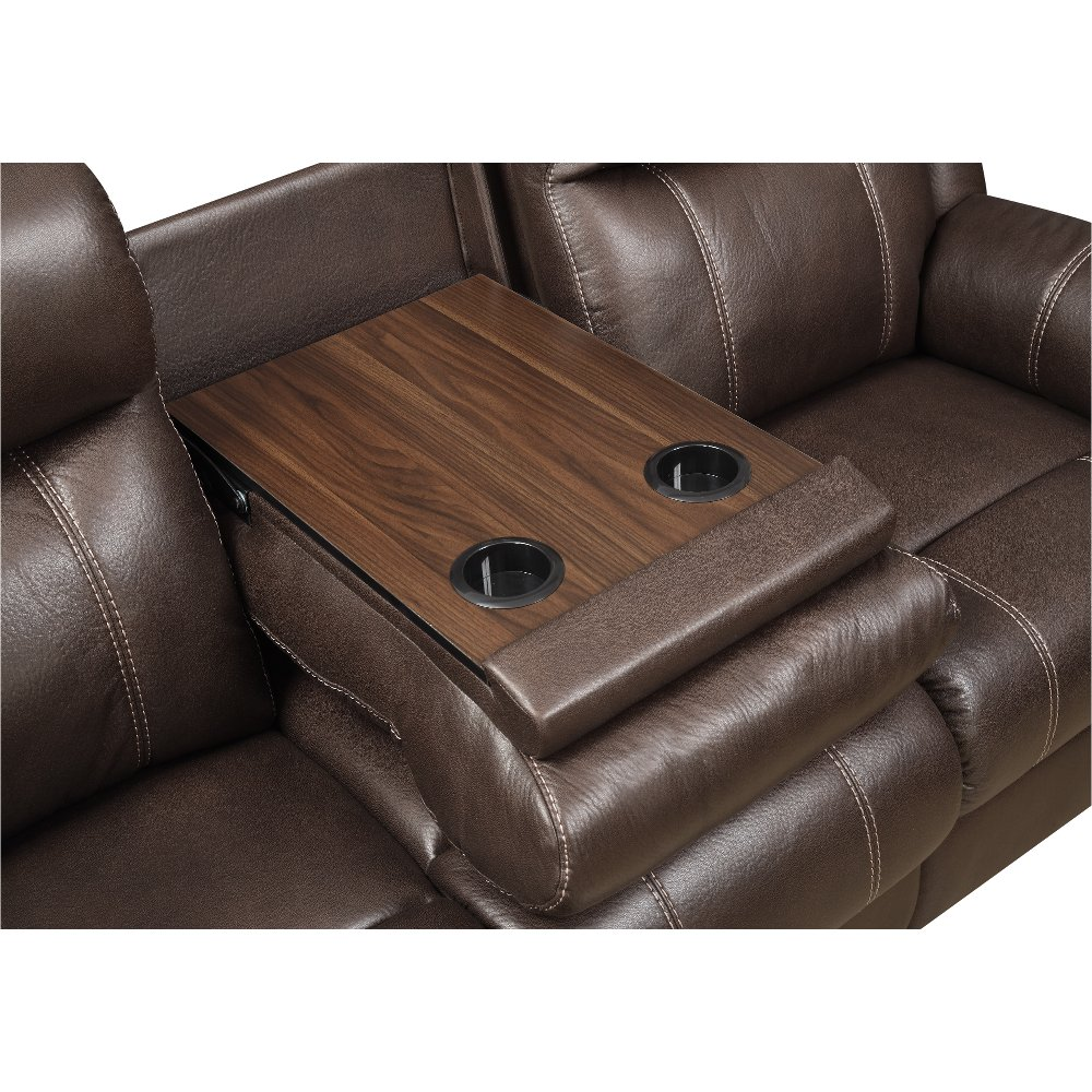 Valor Chocolate Brown Dual Reclining Sofa   Domino | RC Willey Furniture  Store