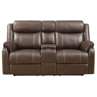 Valor Chocolate Brown Reclining Loveseat - Domino