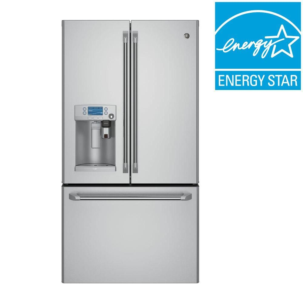 GE Cafe 22 Cu. Ft. French Door Refrigerator   36 Inch Counter Depth With  Keurig K Cup Brewing System   Stainless Steel | RC Willey Furniture Store