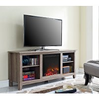 Driftwood Fireplace TV Stand